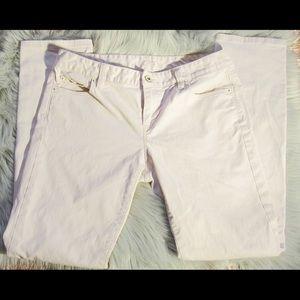 Ann Taylor Loft Pale Pink Straight Leg Jeans
